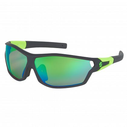 Очки SCOTT Leap Full Frame Black matt/neon green Линзы: chrome amplifier