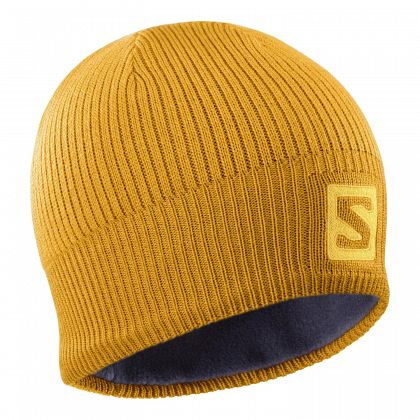 Шапка горнолыжная SALOMON Logo Beane Autumn Blaze/Citrus